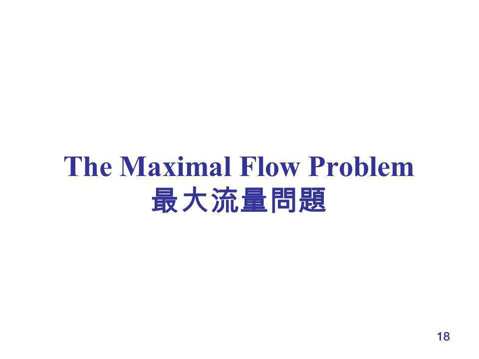 The Maximal Flow Problem 最大流量問題