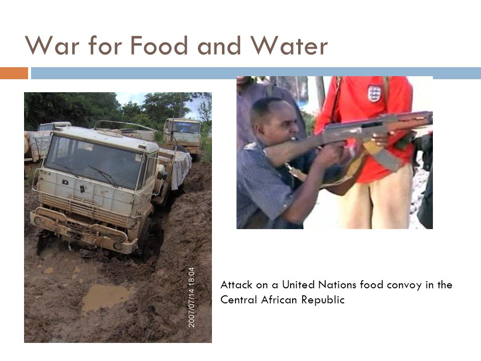 Attack on a United Nations food convoy in the Central African Republic