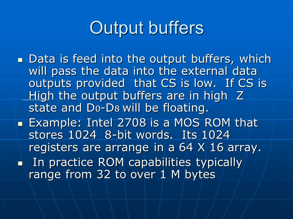 Output buffers