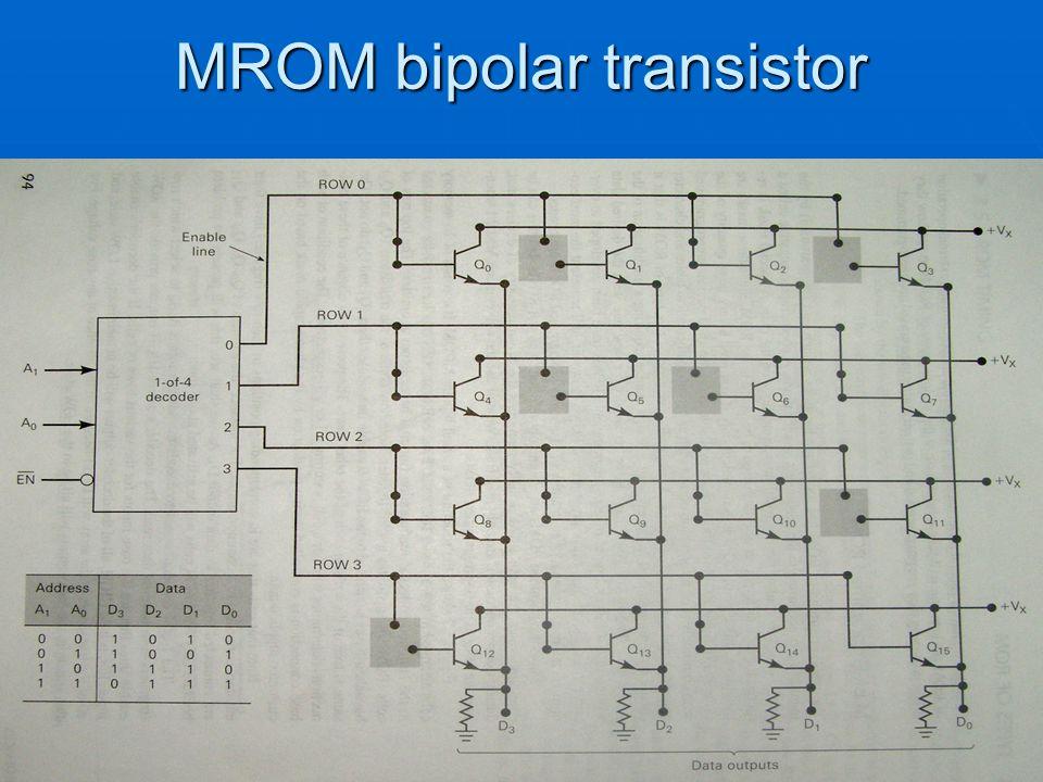 MROM bipolar transistor