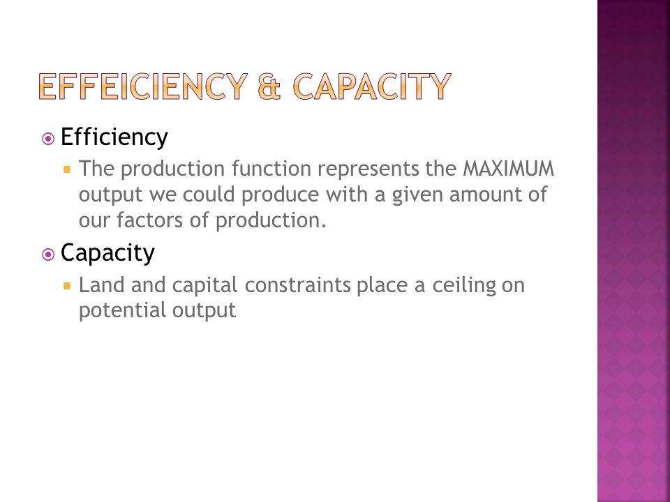 Effeiciency & Capacity