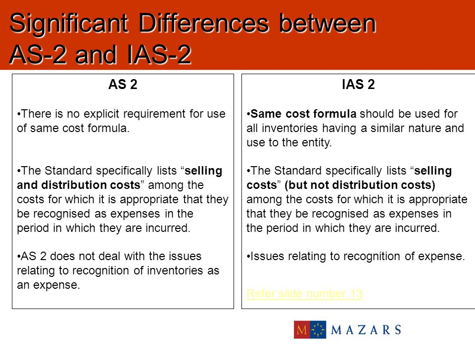 Significant Differences between AS-2 and IAS-2