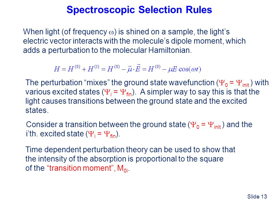 Spectroscopic Selection Rules