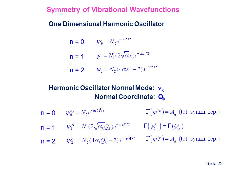 Symmetry of Vibrational Wavefunctions