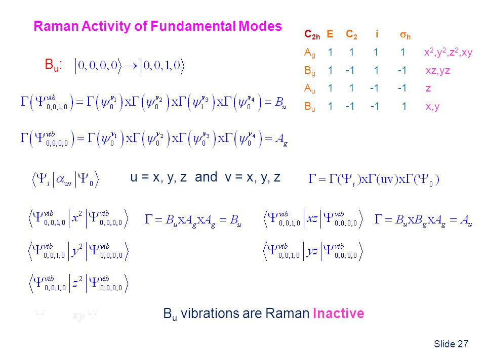 Raman Activity of Fundamental Modes