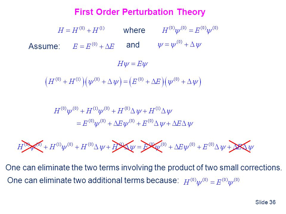 First Order Perturbation Theory