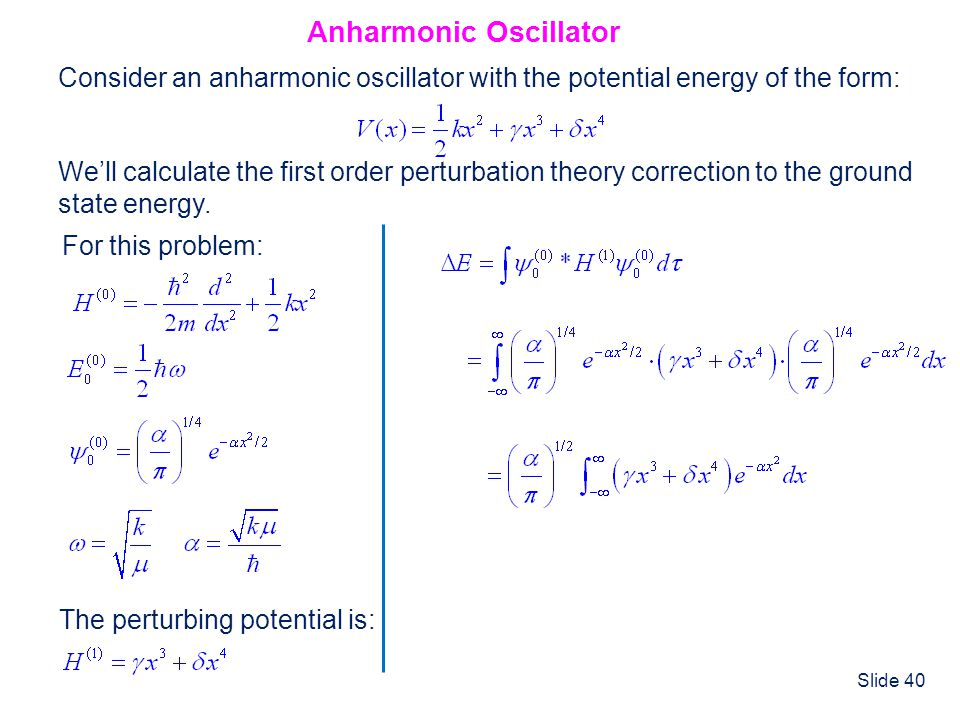 Anharmonic Oscillator