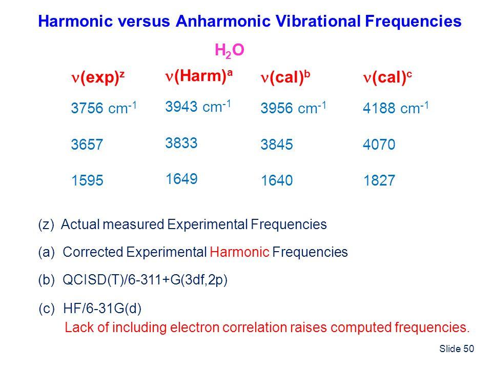 Harmonic versus Anharmonic Vibrational Frequencies