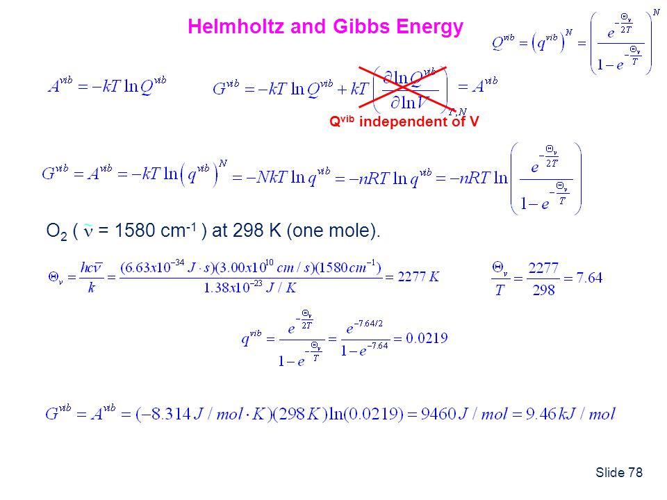 Helmholtz and Gibbs Energy