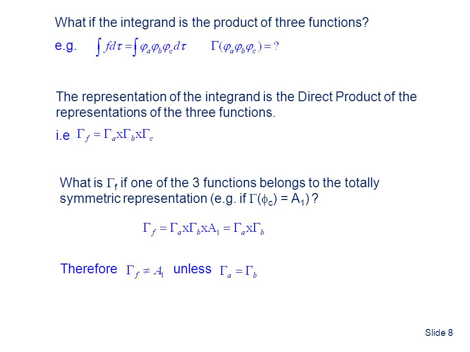 What if the integrand is the product of three functions