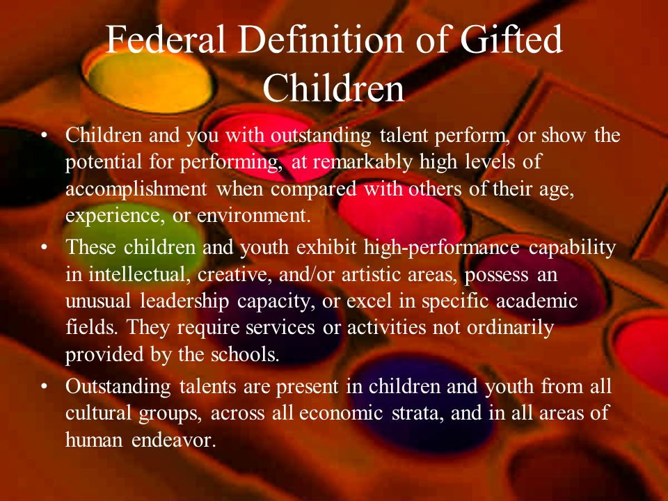 Federal Definition of Gifted Children