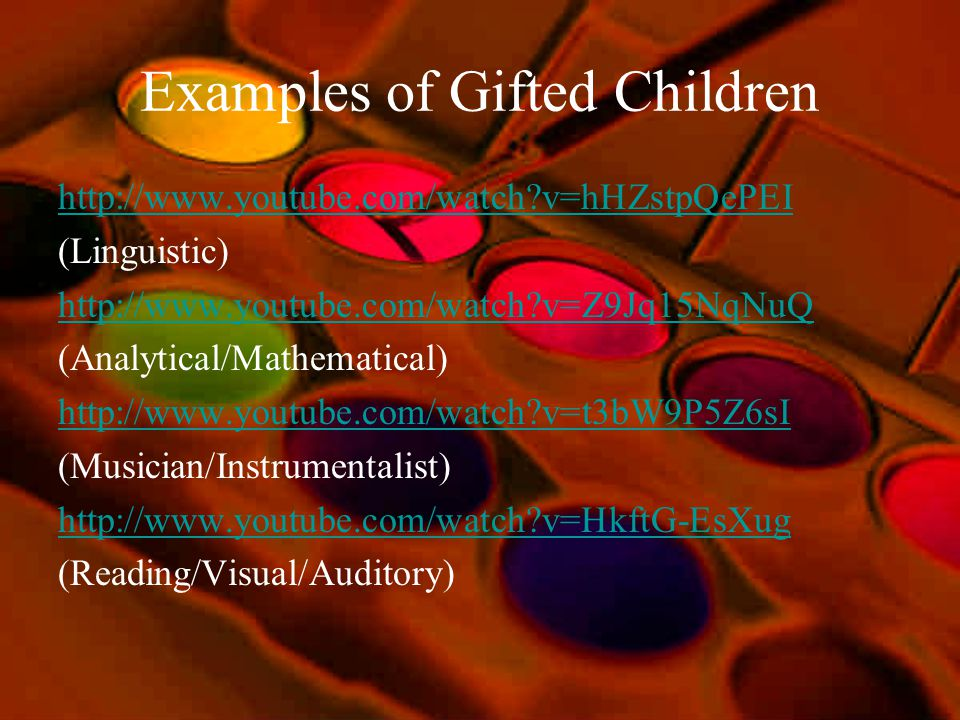 Examples of Gifted Children