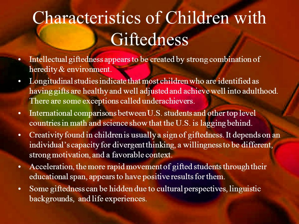 Characteristics of Children with Giftedness
