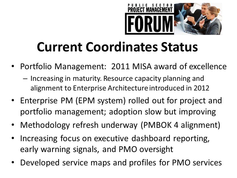 Current Coordinates Status