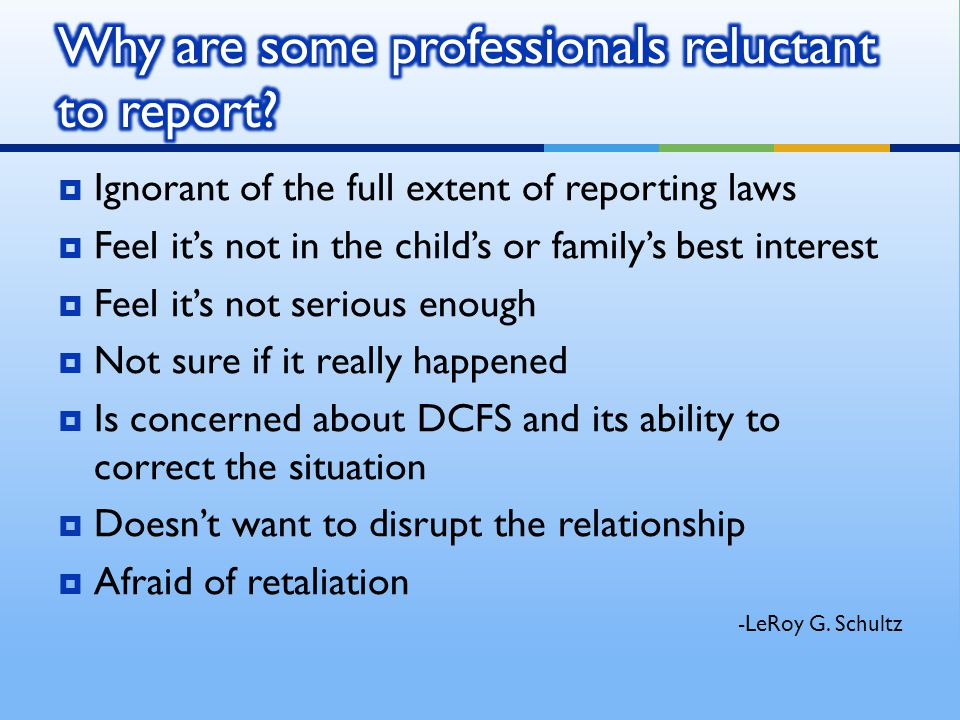 Why are some professionals reluctant to report