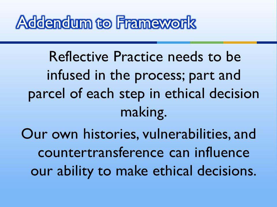 Addendum to Framework
