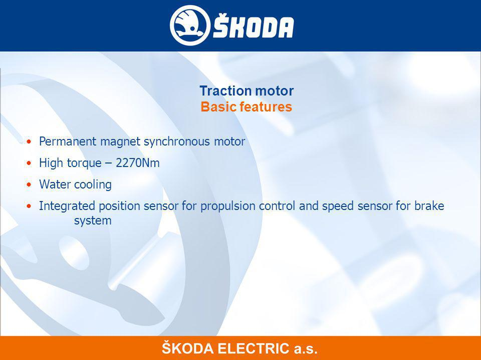 Traction motor Basic features