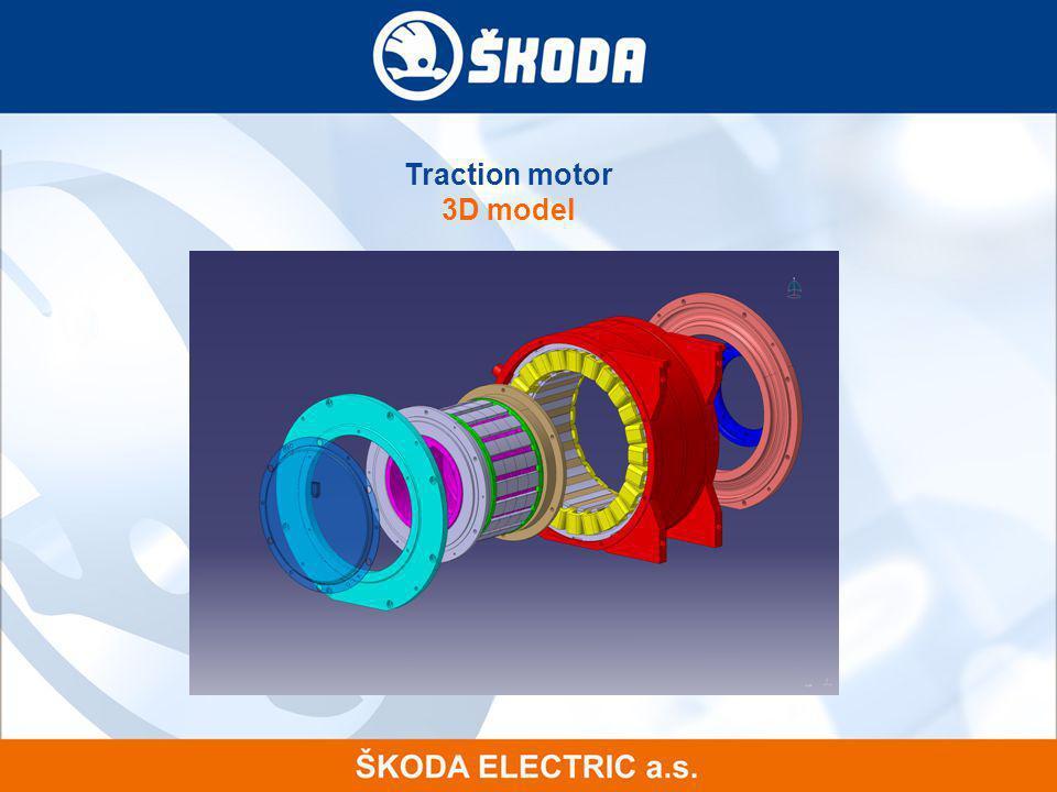 Traction motor 3D model 14