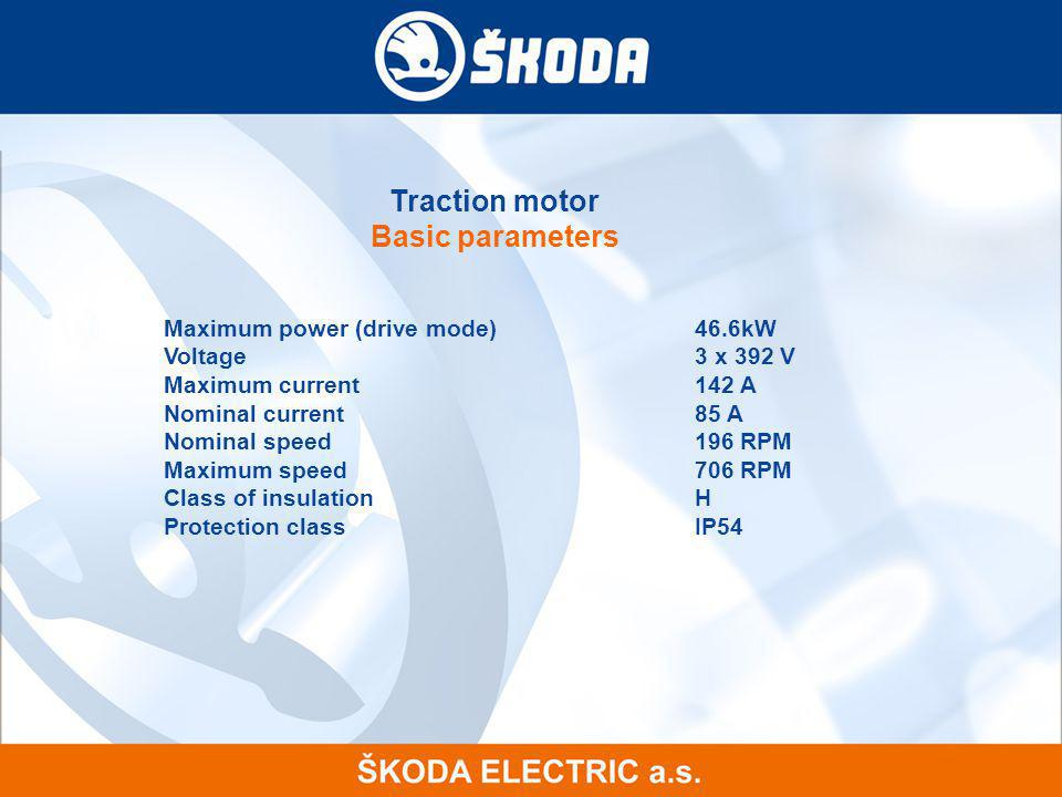Traction motor Basic parameters