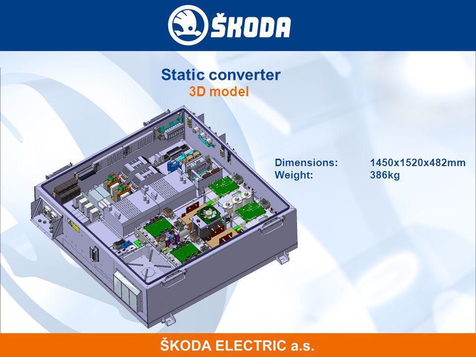 Static converter 3D model