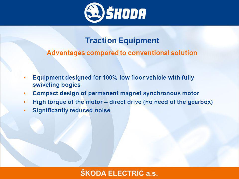 Advantages compared to conventional solution
