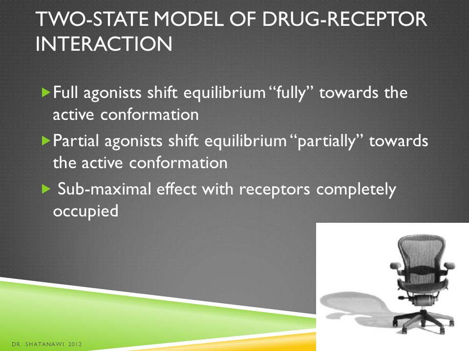 Two-state model of drug-receptor interaction