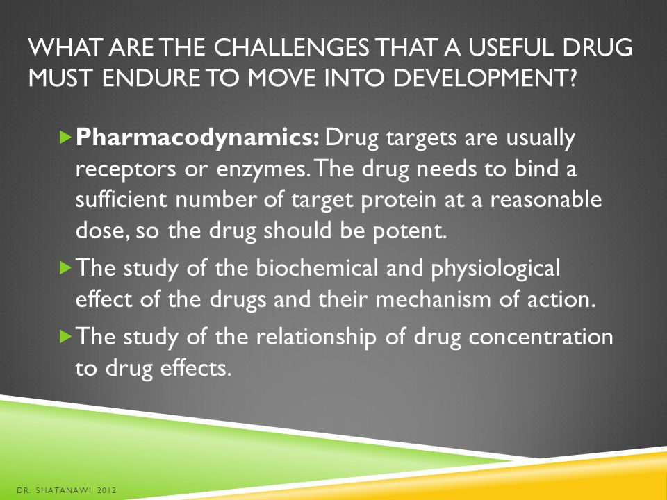 The study of the relationship of drug concentration to drug effects.