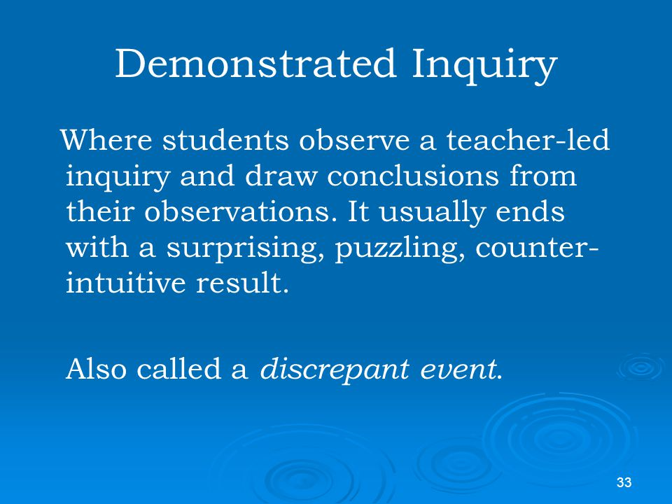 Demonstrated Inquiry