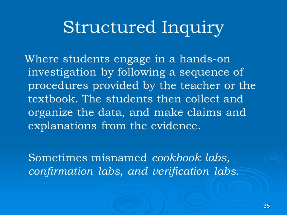 Structured Inquiry