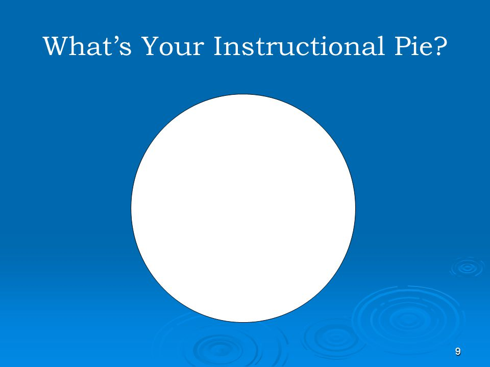What's Your Instructional Pie