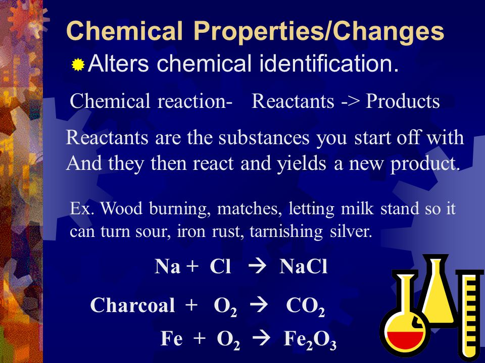 Chemical Properties/Changes
