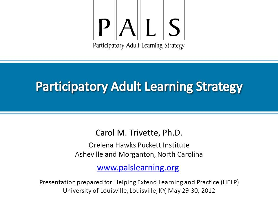 Participatory Adult Learning Strategy