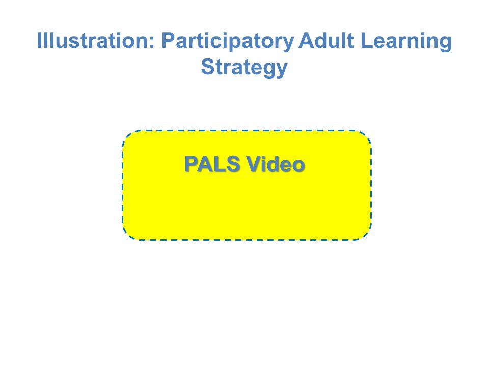 Illustration: Participatory Adult Learning Strategy