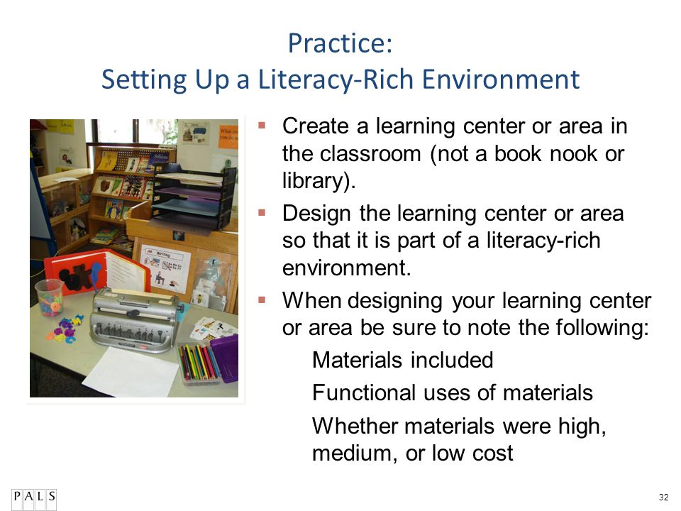 Practice: Setting Up a Literacy-Rich Environment