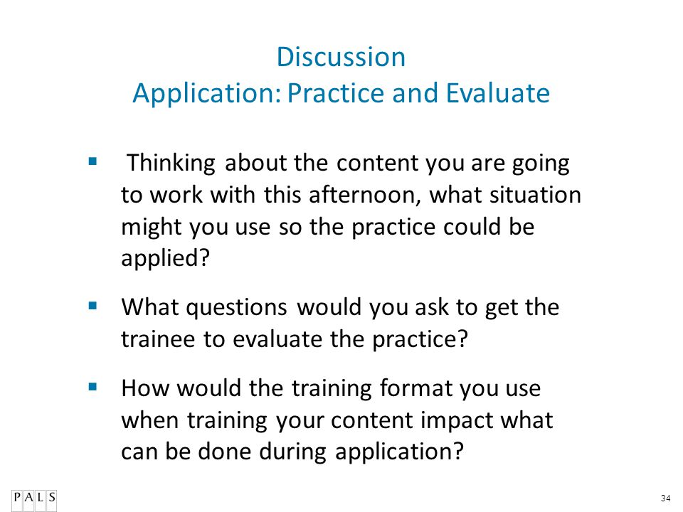 Application: Practice and Evaluate