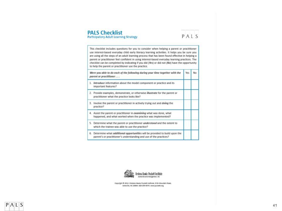 PALS Checklist