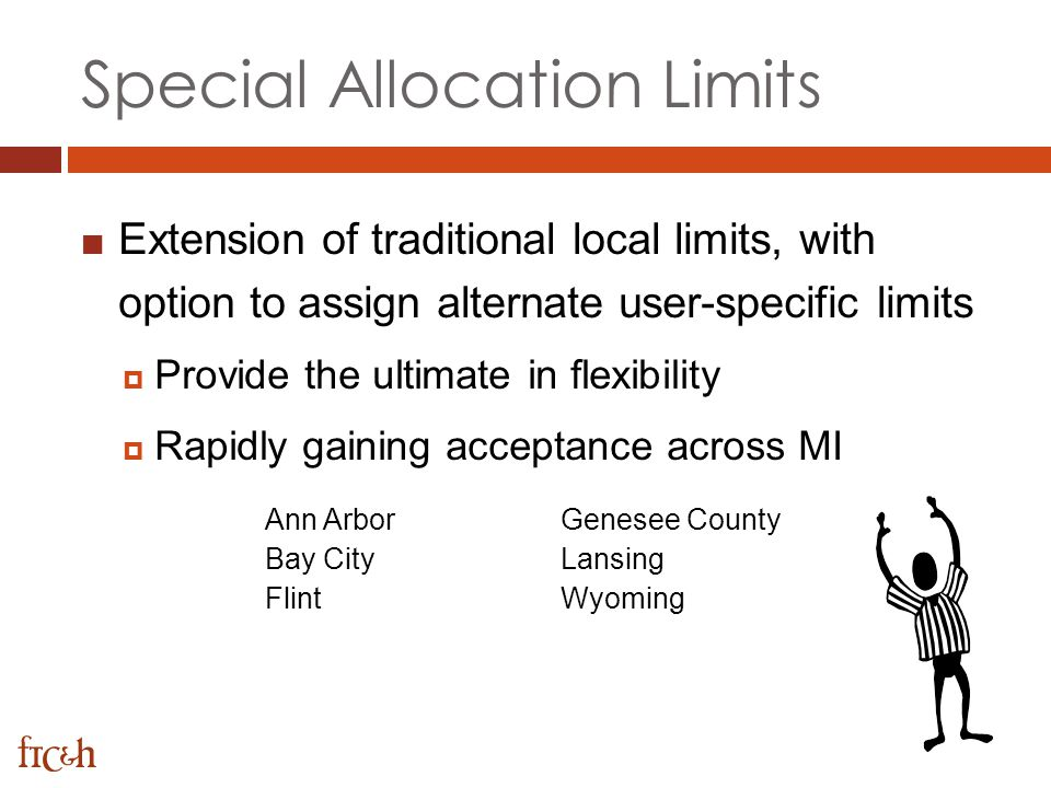 Special Allocation Limits