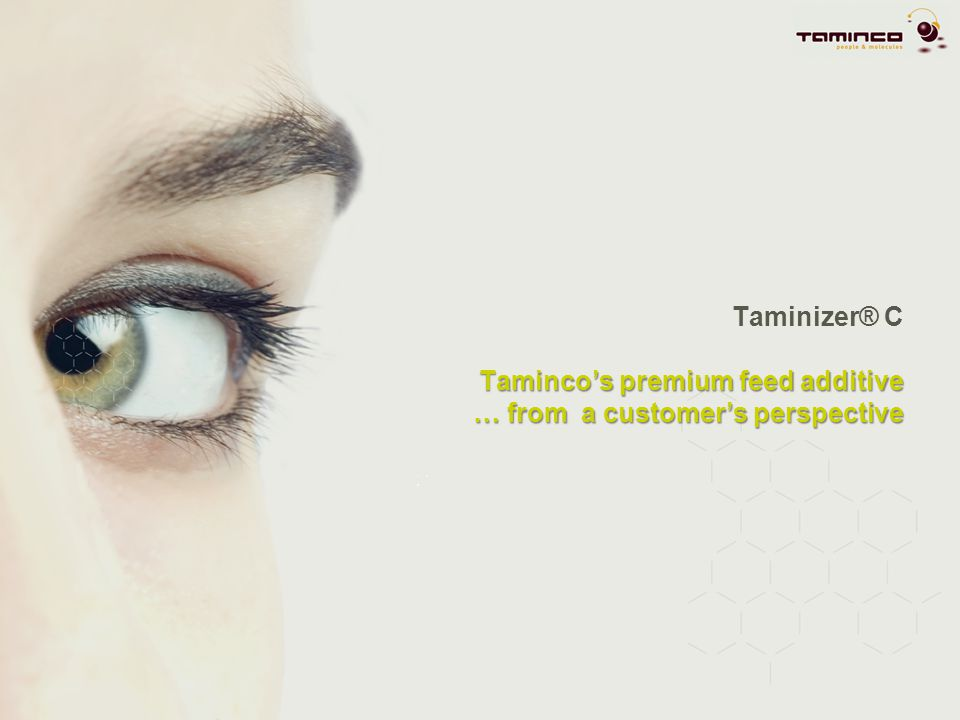 Taminizer® C Taminco's premium feed additive … from a customer's perspective