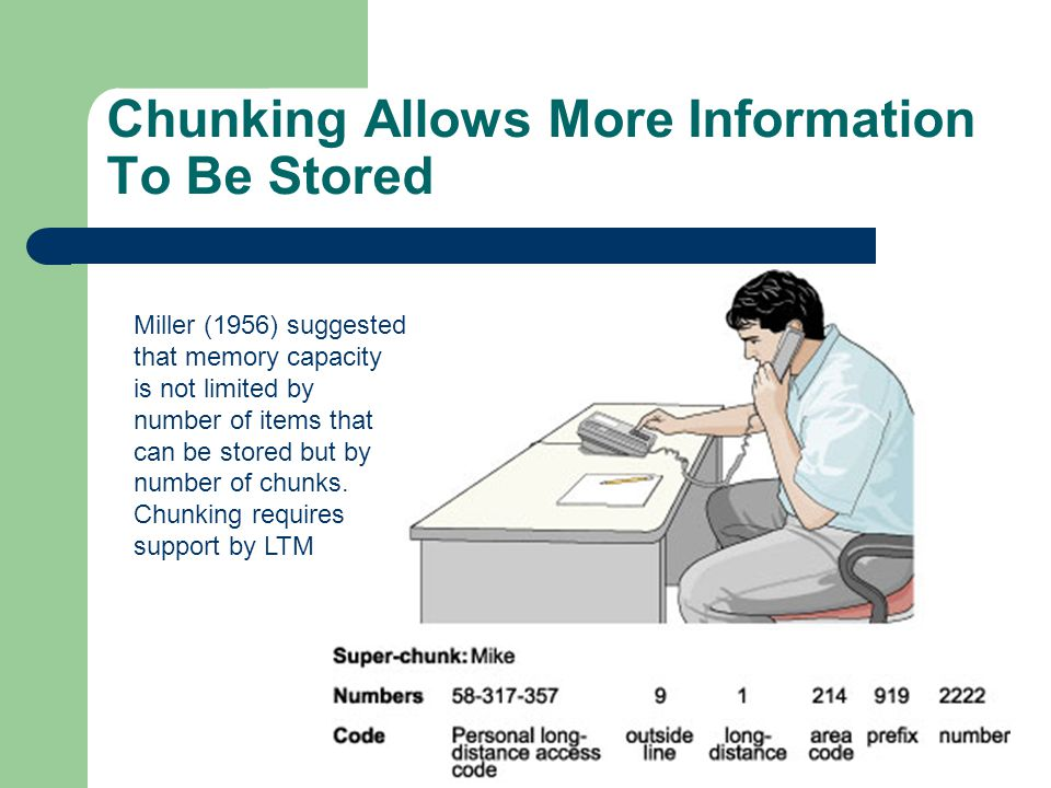 Chunking Allows More Information To Be Stored