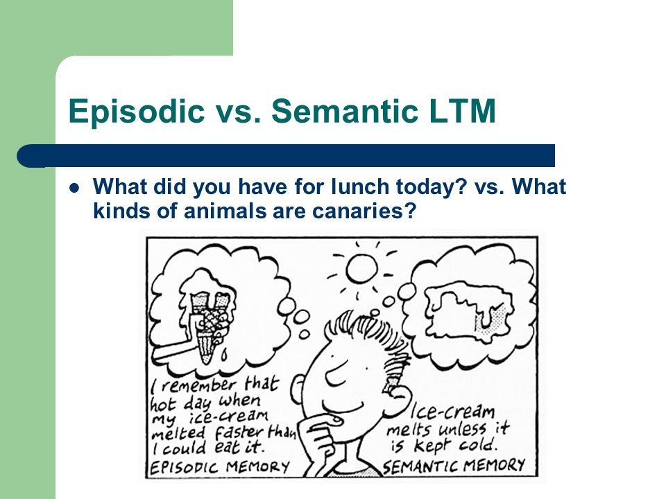 Episodic vs. Semantic LTM