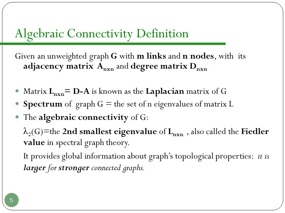 Algebraic Connectivity Definition