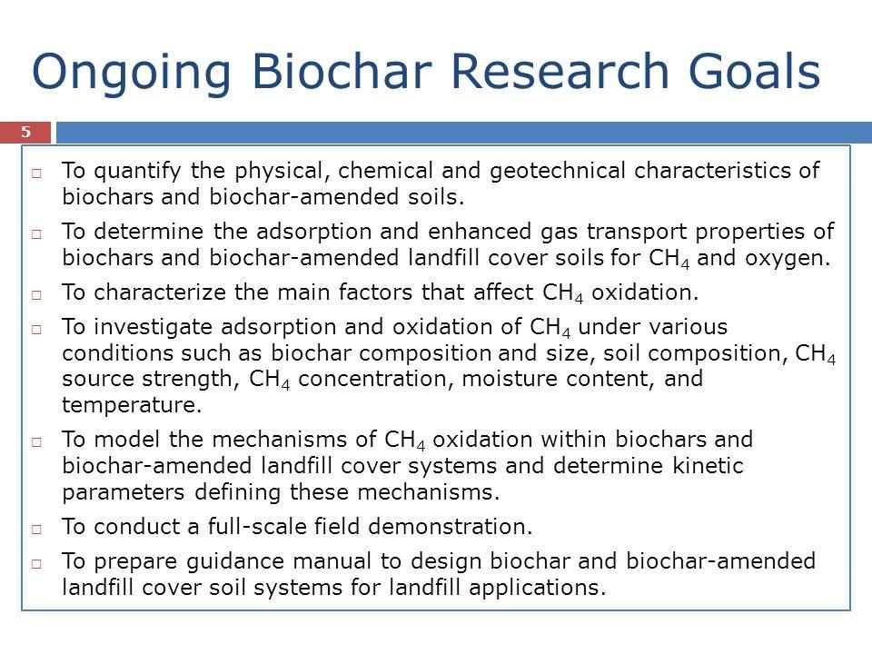 Ongoing Biochar Research Goals