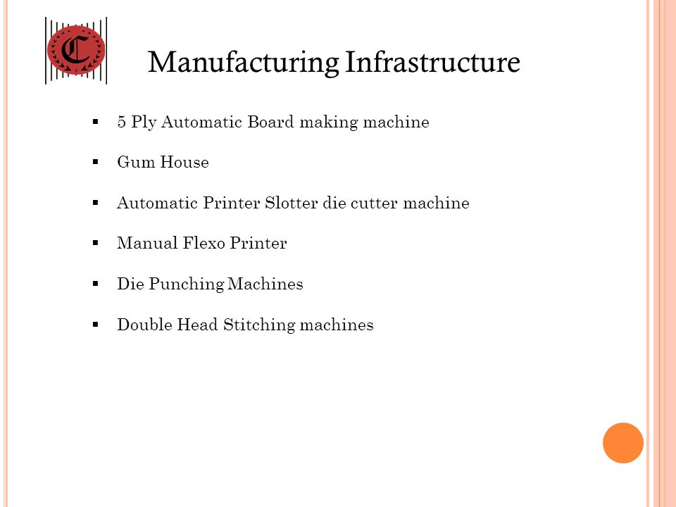 Manufacturing Infrastructure