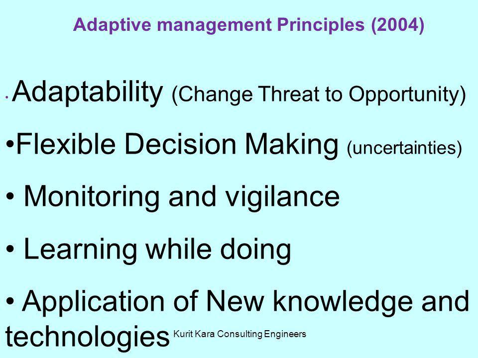 Adaptive management Principles (2004)