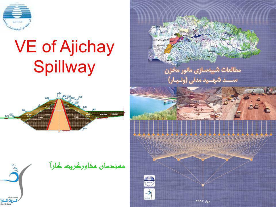 VE of Ajichay Spillway مهندسان مشاوركريت كارآ