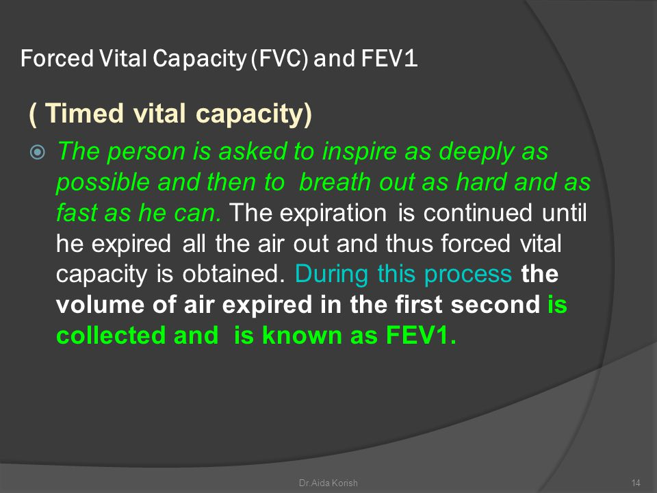 Forced Vital Capacity (FVC) and FEV1
