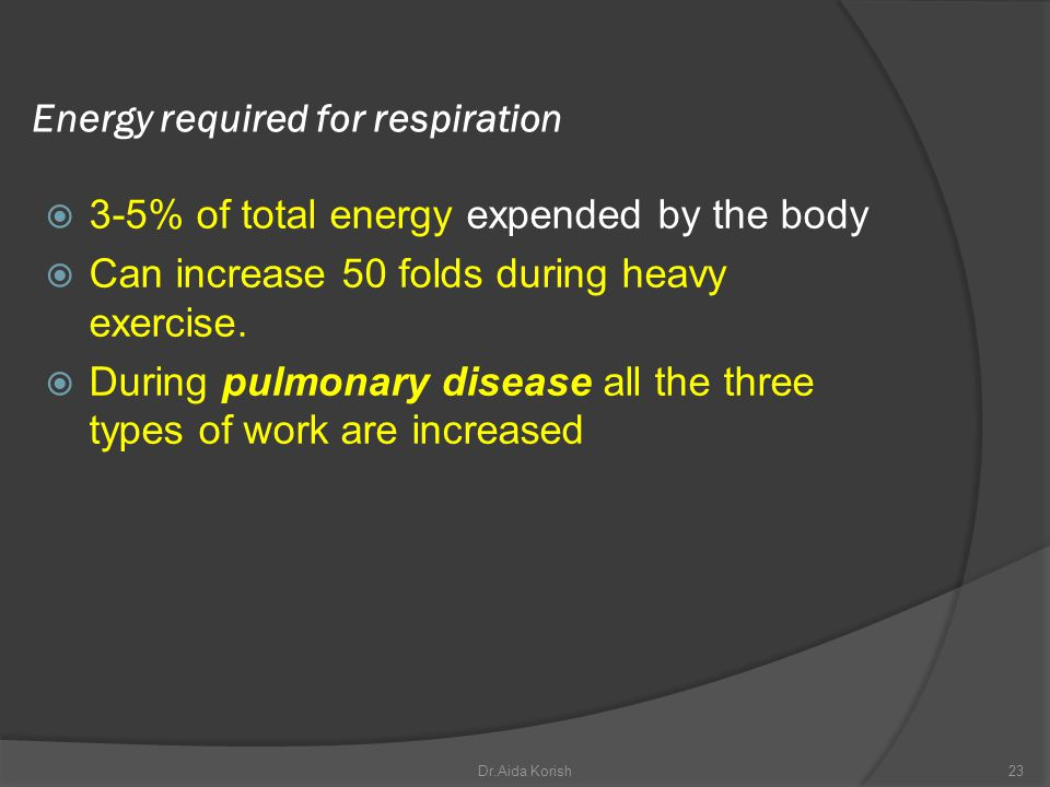 Energy required for respiration