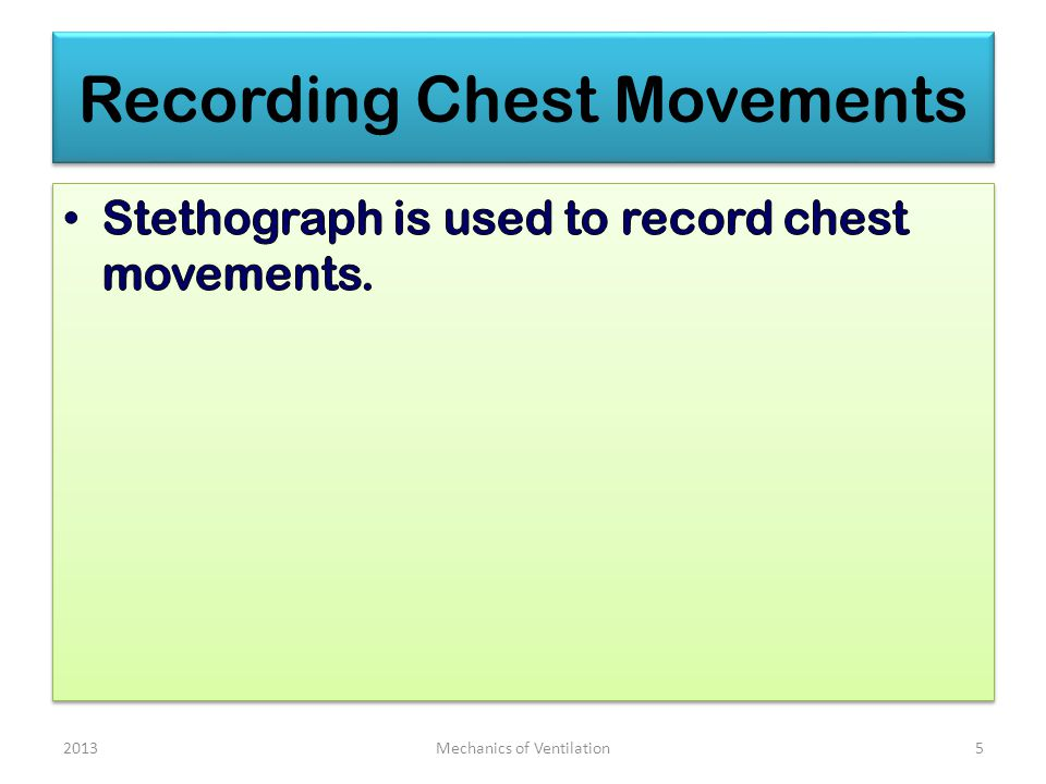 Recording Chest Movements