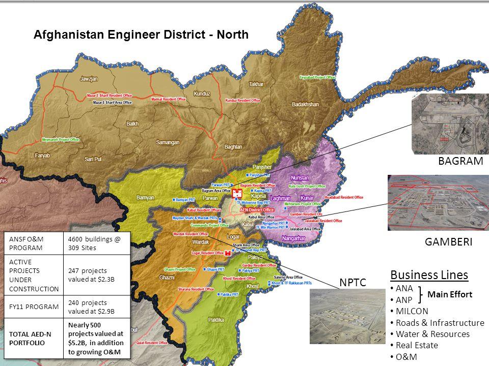 Business Lines Afghanistan Engineer District - North BAGRAM GAMBERI