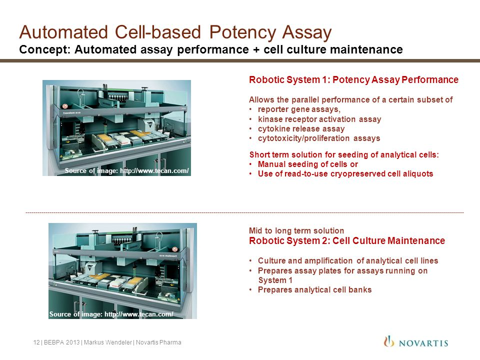 Automated Cell-based Potency Assay Concept: Automated assay performance + cell culture maintenance